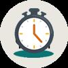 Penghitung mundur menuju hari resepsi pernikahan anda dalam hitungan detik, menit, jam.